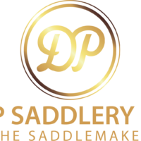 DP SADDLERY LOGO STRECHED_gold transparentbackground